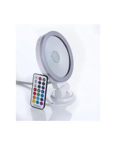 Brackenheath I3015W iSpot Ultra Thin RGB LED Floodlight, 120Deg Beam Angle, 9W 230V, White Aluminium