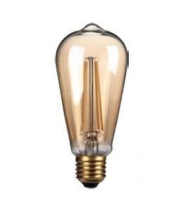 4W LED Filament, ST64, E27, Gold finish, 20000hrs, 2700K