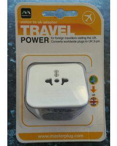 BG Electrical TAVUK Visitor to UK travel adaptor