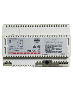 Terraneo/Bticino 346000 2  Wire PSU, Power supply unit for 2 wire audio or video, 8 DIN rail modules 1200 mA
