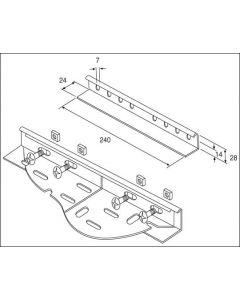 Unistrut TUM/WCPG 240mm x 28mm Wrapover Coupler for Medium Duty Tray