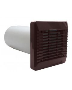 """Vent-Axia 254100 100mm 4"""" Wall Kit Brown c/w Sleeve & External Grille"""