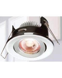 ML Accessories Knightsbridge VFR8TWW LED, Proknight Fire Rated Tilt IP20, Downlight c/w Dimmable Driver