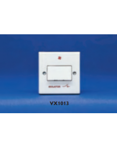 Volex Accessories VX1013 6A Three Pole Isolating Switch Marked With Isolator and Fan Symbol