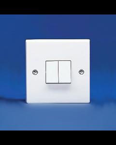 Volex Accessories VX1040 10A 2 Gang 2 Way Plate Switch