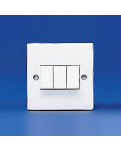 Volex Accessories VX1050 10A 3 Gang 2 Way Plate Switch