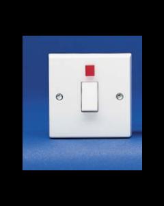 Volex Accessories VX1060 20A DP switch with Neon Flex Outlet