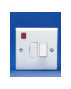 Volex Accessories VX1081 13A DP Switched Fused Connection Unit with Neon and Flex Outlet