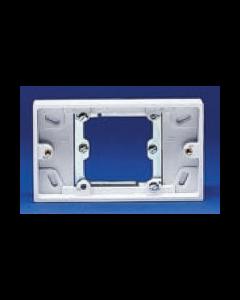 Volex Accessories VX9406 2 Gang Socket Conversion Pattress, 20mm Deep for VX9500 & VX9200