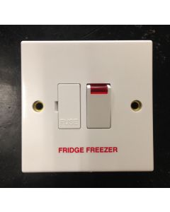 Volex Accessories VX1081FF 13A Connection Unit, DP Switched Fused c/w Neon & F/O, Marked Fridge Freezer