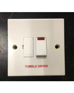 Volex Accessories VX1081TD 13A Connection Unit, DP Switched Fused c/w Neon & F/O, Marked Tumble Dryer