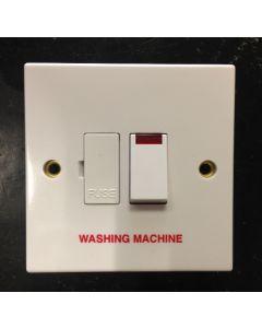 Volex Accessories VX1081WM 13A Connection Unit, DP Switched Fused c/w Neon & F/O, Marked Washing Machine