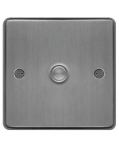 Hager WRDS1BS Dimmer Switch, 1 Gang, Size: 400W 9.5x86x86mm