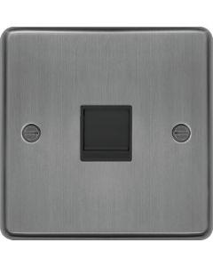 Hager WRRJ45BSB Socket, RJ45, Black Insert, Size: 20x86x86mm  - available online from SparkShop