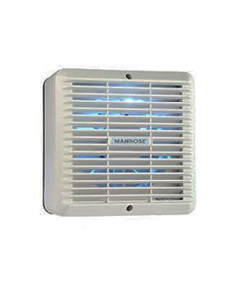 """Manrose XF150H 6"""" Wall/Ceiling Extractor Fan c/w Fixed Grille, Adjustable Timer + Humidistat - Buy online from Sparkshop"""