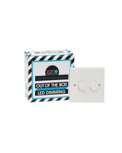 Zano ZSP152 2 Gang 2x150W Rotary Push On/Off Slimline Single Plate Dimmer Switch in White - Buy online from Sparkshop